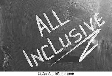 tudo, conceito, inclusivo