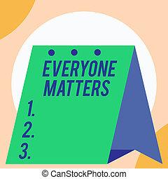 tudo, conceito, texto, everyone, direita, ter, respeito, calendário, abertos, ficar, matters., mensal, experiência., adquira, grande, mostrando, geométrico, significado, escrivaninha, dignidade, planejador, letra