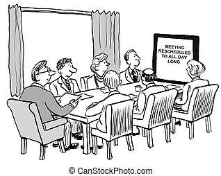 tudo, dia, reunião