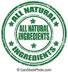 tudo, natural, ingredients-stamp
