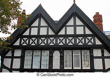 Tudor black and white building