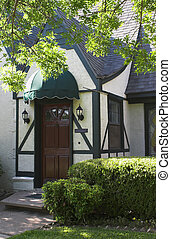 Tudor House Entry 2 - attractive entryway to tudor style...
