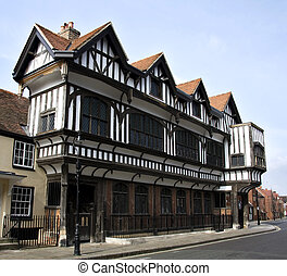 Tudor House Museum, Southampton, UK. An example of a...