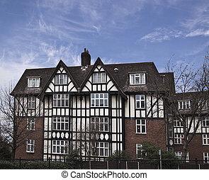 Tudor style building in London