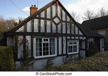 Tudor style bungalow