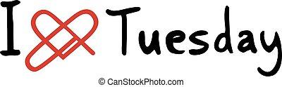 Tuesday love icon - Creative design of Tuesday love icon