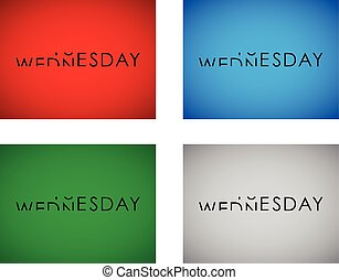 tuesday to wednesday turning text set