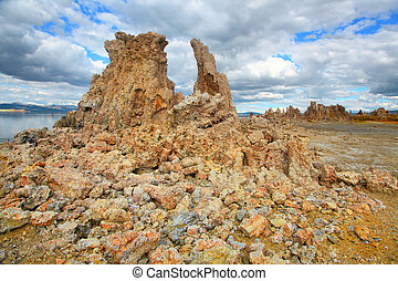 Tufa formations - Tall tufa formations near Mono lake...