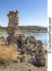 Tufa Tower at Mono Lake - Geologic formations called tufa...