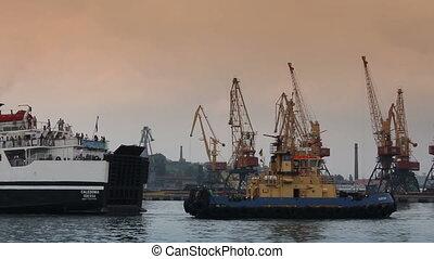 tug-boat, commerce, port, mer