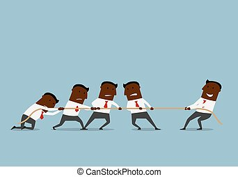 Tug of war business competition