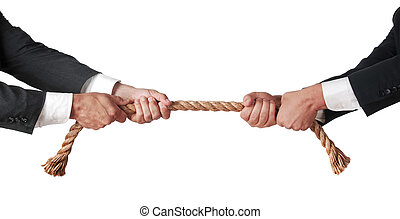 tug of war between businessmen