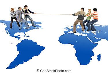 Tug of war between America and Europe