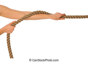 tug of war - The strong-willed woman plays of pulling of a ...