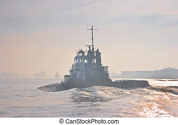Tug passing by