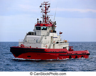 Ocean tugboat for offshore oil and gas activity