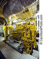 Tugboat diesel engine