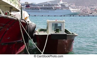 Tugboat in a Harbour - TURKEY - JULY 27, 2013: Tugboat...
