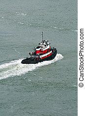 Tugboat on the sea