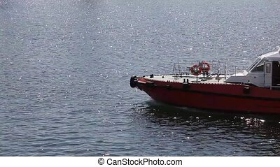 Tugboat sailing in the sea. Odessa, Ukraine