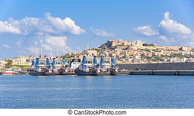 Tugs in the port of Milazzo