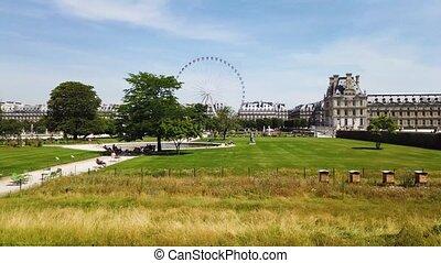 Tuileries garden, Paris - Summer holidays in Paris. ...