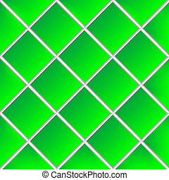 tuiles, céramique, vert, ombragé