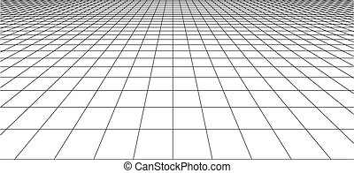 tuiles, carrée, perspective, checkered, plancher