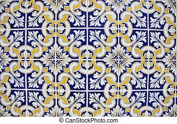 tuiles, geometgrical, texture, portugal