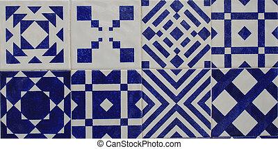 tuiles, lisbonne, vieux, azulejos