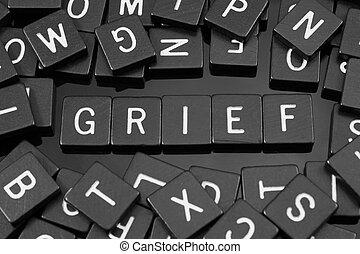 """tuiles, mot,  """"grief"""", noir, lettre, orthographe"""