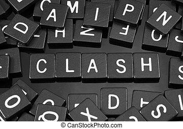 """tuiles, mot, noir, lettre, orthographe,  """"clash"""""""