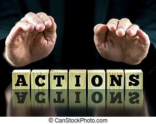 tuiles, mot, sur,  actions, lettre, mains, orthographe