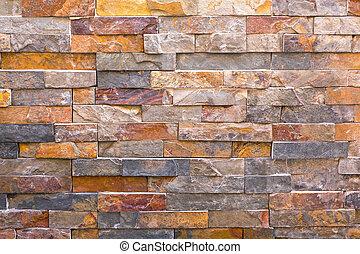 tuiles mur, granit