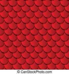 tuiles, rouges, toit, argile