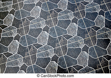 tuiles, surface, plancher
