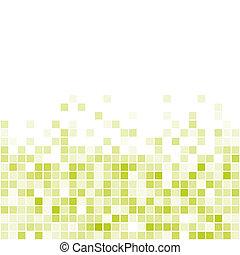 tuiles, vecteur, vert, seamless