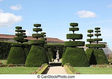 tuin, franse , formeel