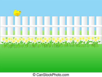 tuin, omheining