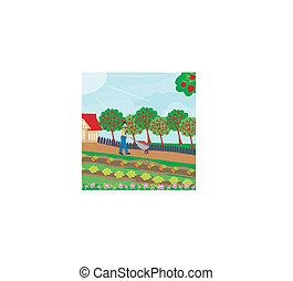 tuinman, boomgaard
