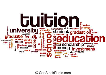 Tuition word cloud concept