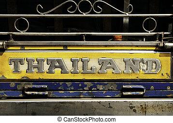 tuk, reise, thailändisch, bangkok, thailand, taxifahrzeuge, ...
