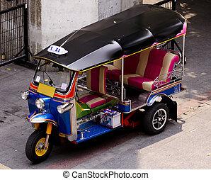 Tuk tuk - a colorful tuk tuk taxi in bangkok, thailand
