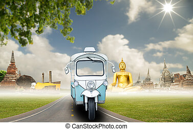 Tuk Tuk car for tourism for amazing Thailand