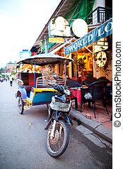 tuk, tuk, dans, siem, récolter, cambodge