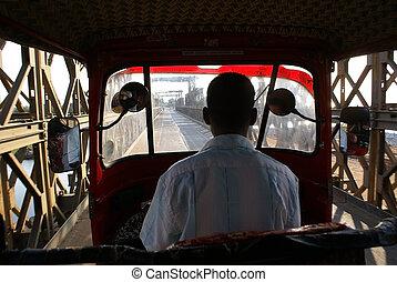 Tuk-tuk driver - Road near Arugam Bay, Sri Lanka
