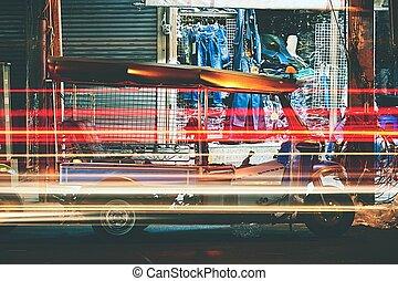 Tuk Tuk Taxi - Tuk tuk taxi at the night - Bangkok, Thailand...
