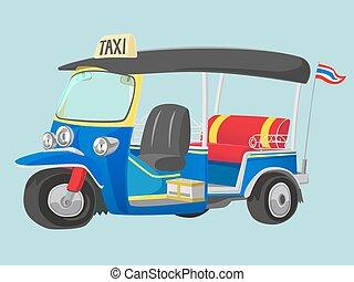 tuk-tuk, thailand, taxifahrzeuge