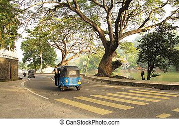 tuktuk on the road