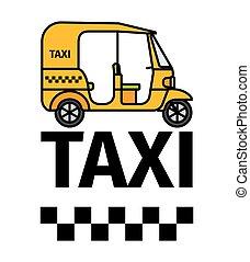 Tuktuk rickshaw taxi - Tuk-tuk rickshaw taxi transport,...